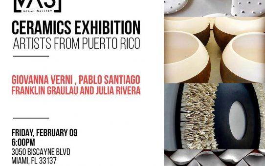 CANVAS Gallery,Miami, CERAMICS EXHIBITION Artists from Puerto Rico 2018