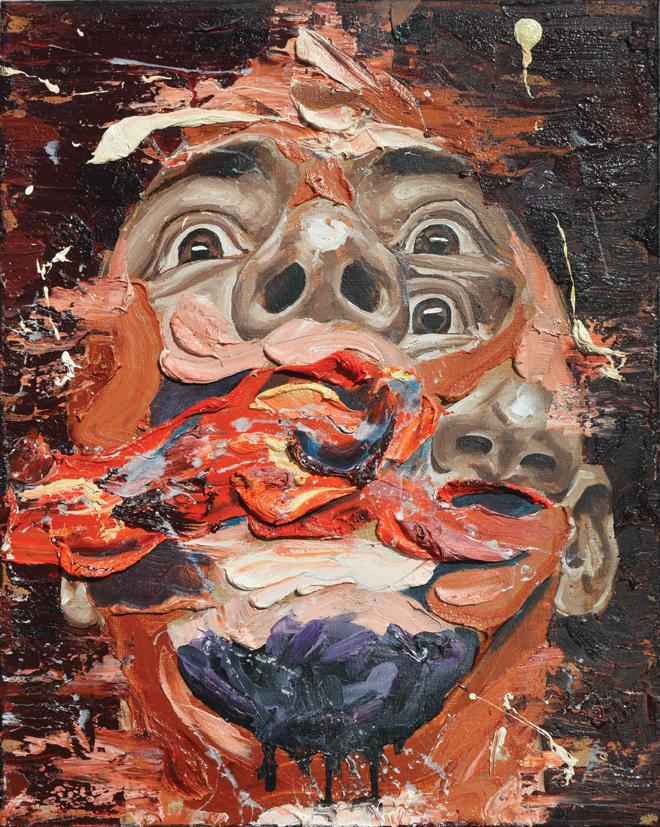 "William Osorio, Three Instances of a Life in Progress II, 2017, oil on canvas, 20"" x 16."""
