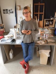 JENNY BRILLHART in her studio