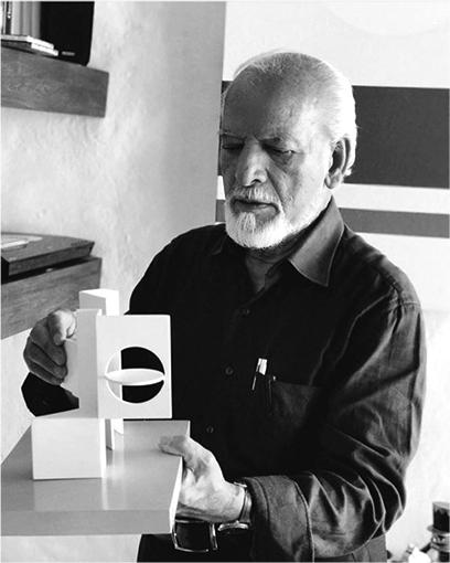 Jorge Riveros in his studio in Bogotá.