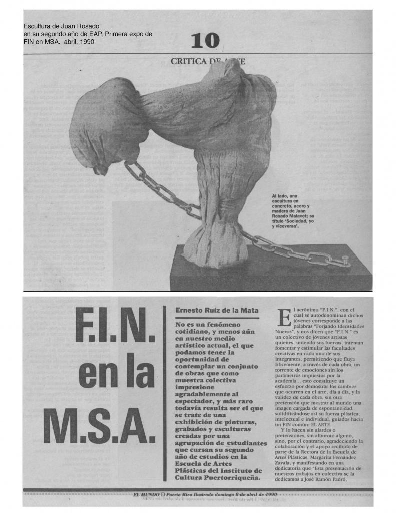 FIN at MSA, by Ernesto Ruiz De La Mata