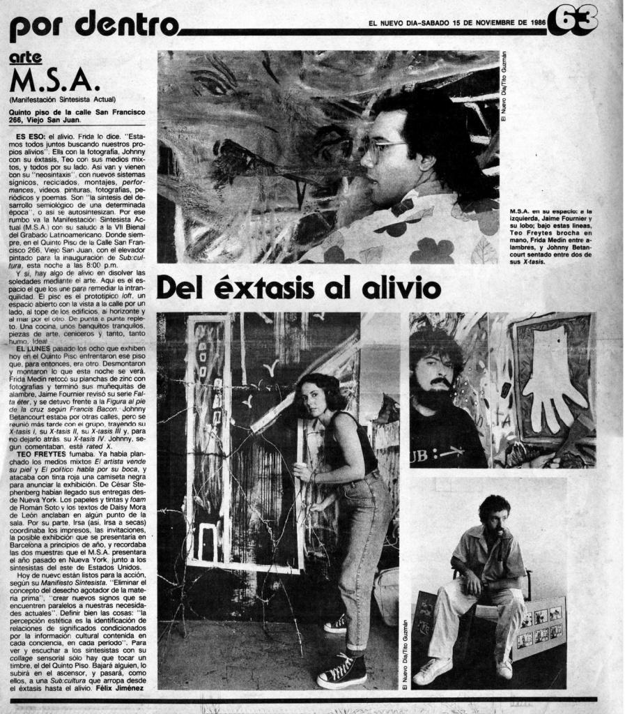 MSA Del extasi al alivio, nuevo dia por Felix Jimenez