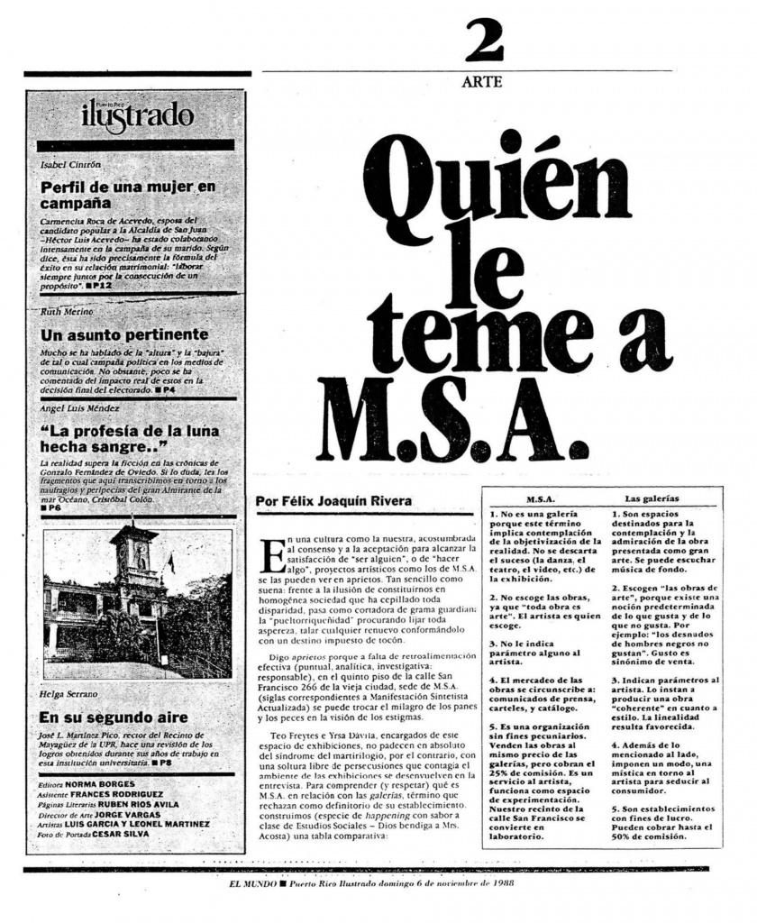 Quien le temea MSA