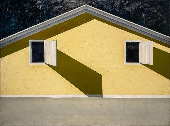 Emilio Sanchez Casita Amarilla, n.d. oil on canvas 36 x 48 inches